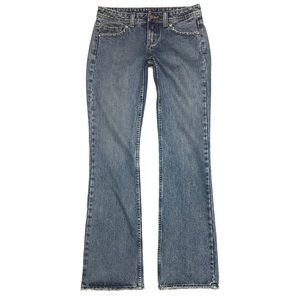 Willi Smith Distressed Bootcut Jeans